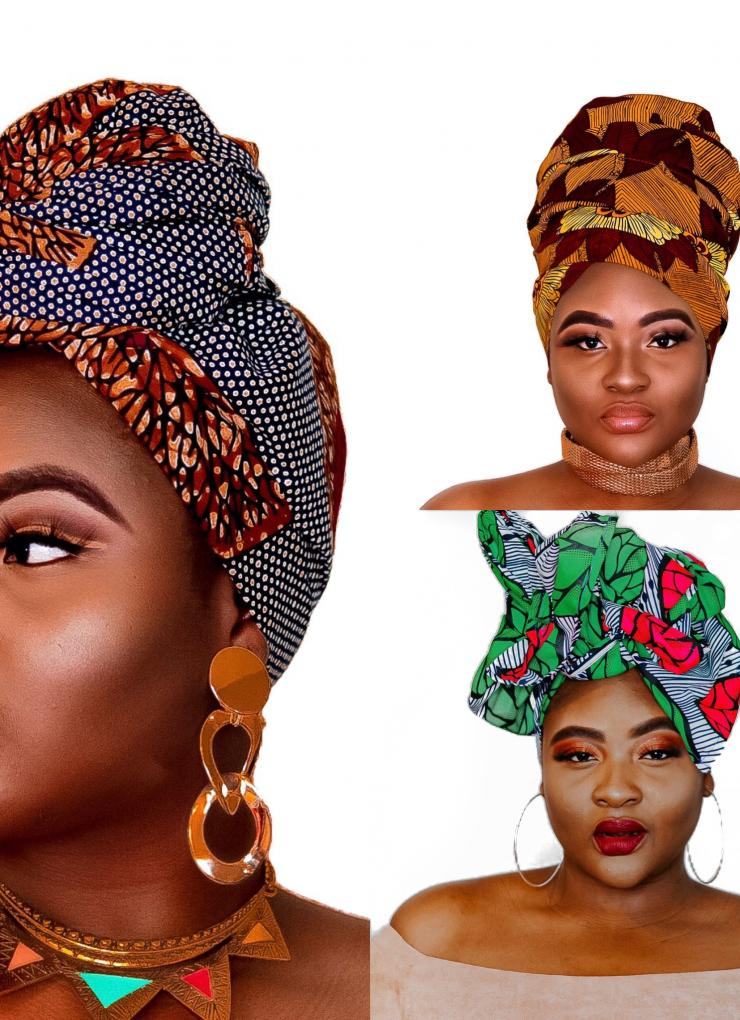 Wholesale African print headwrap (12 pieces)