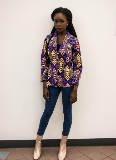 Purple reign blazer