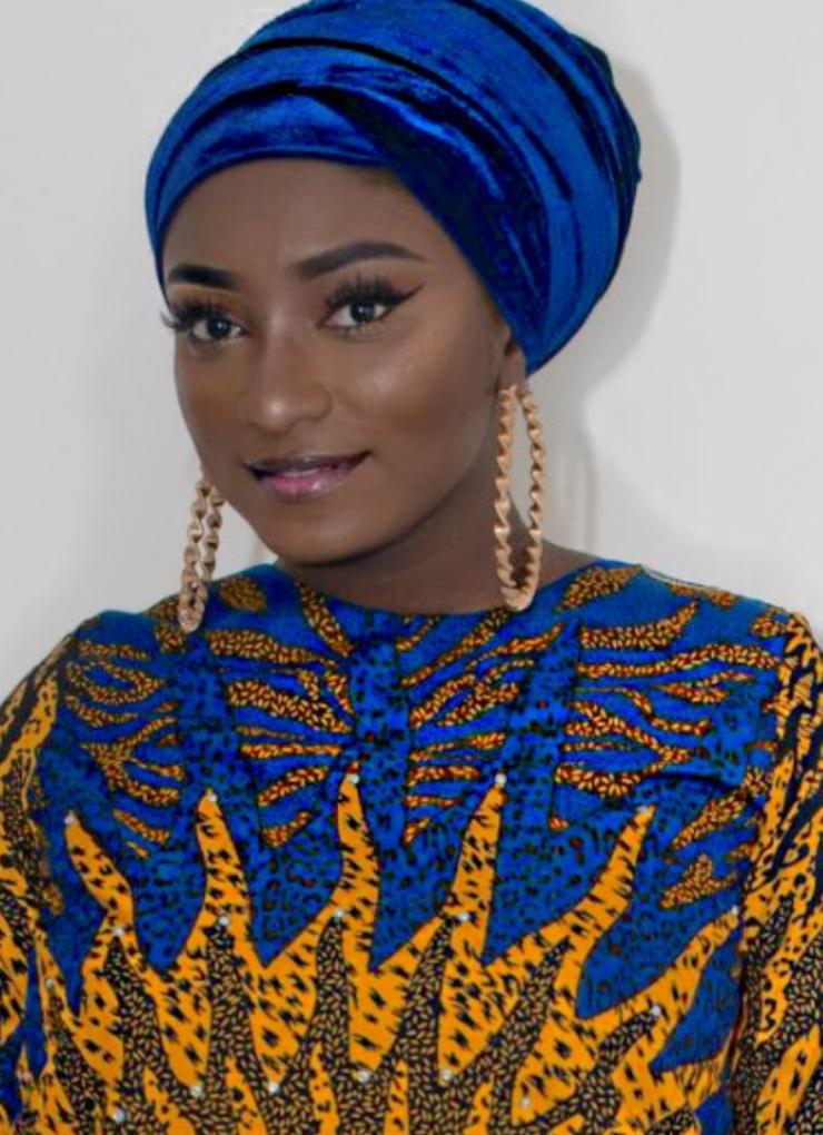 Velvet scarf  blue