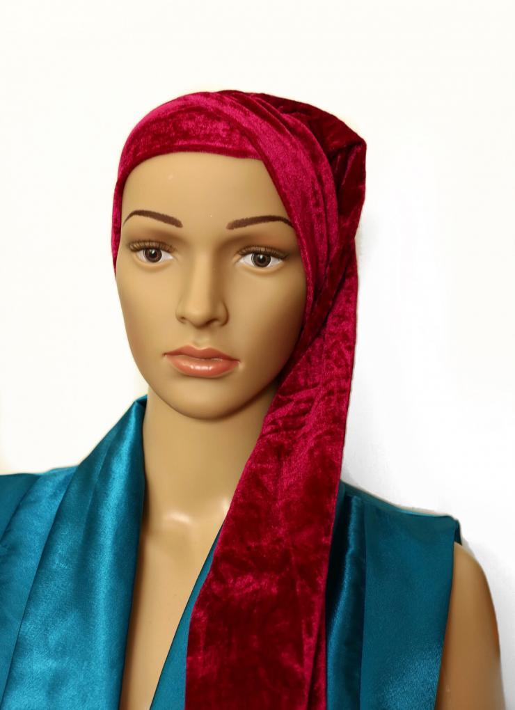 Velvet turban pink